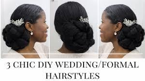 Natural Formal Hairstyles 3 Timeless Diy Wedding Formal Hairstyles Natural Hair Misst1806