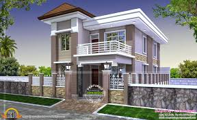 duplex plan modern house india kerala home design and floor plans