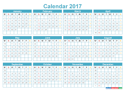 yearly calendar 2017 template printable calendar 2017 with week numbers template blue