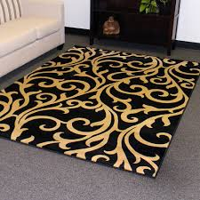 dark black with yellow pattren rugs for contemporary living room decor charming and cozy your idea chevron rug at area floors white geometric