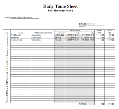 daily timesheet template free printable daily timesheet template 7