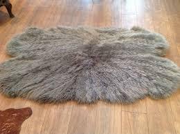 lovely sheepskin rug ikea large grey light brown