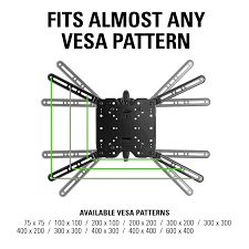 Vesa Pattern Interesting SANUS Single Stud FullMotion TV Wall Mount For 48 To 48 TVs