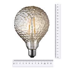 Led Lamp Geribbelde Licht Getinte Bol 175 Cm Hoog Elektroshopnl