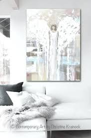 grey and white wall art print abstract angel painting modern angel art cream light blue grey grey and white wall art  on red and light blue wall art with grey and white wall art wall decoration medium size stickers grey