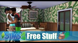 sims 4 free content sliding doors celing fans build and cas caribbean themed stuff