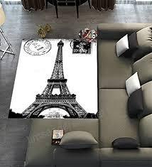 unique carpet floor rugs mat for home living dining room playroom decorationfrech paris eiffel tower city