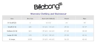 Billabong Boys Size Chart Top Of Page Billabong Clothing And Swimwear Size Chart On