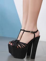 Sandal Design Womens High Heel Sandals Elegant Stylish Platform Design All Match Sandals