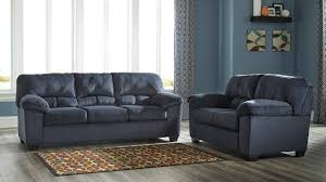 dailey midnight blue sofa and loveseat set