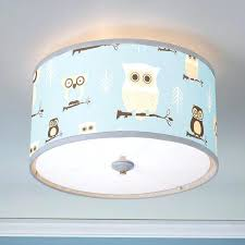 owl lampshade baby nursery decor best owl lamp shades for light attractive blue and brown
