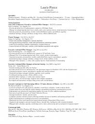 Administrative Assistant Office Resume Office Assistant Resume