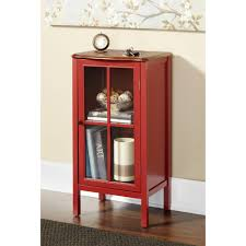 Red Accent Storage Cabinet • Storage Cabinet Ideas