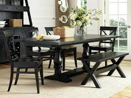 black dining table and chairs bench furniture hygena aro 4 red