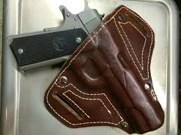 picture of fitted leather holster