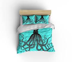 octopus bedding  etsy  bed furniture decoration