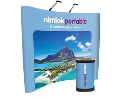 Pop Up Display Stands Uk 100 x 100 Curved PopUp Stand Nimlok Portables 62