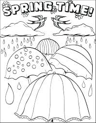 Spring Coloring Pages To Print Printable Spring Coloring Pages For