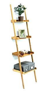 ladder shelf with drawers leaning bookcase black uk wood