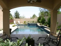 patio with pool. Fine Patio TuscanStyle Patio With Pool Inside With