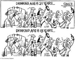 Cartoon - Drinking Teen Political