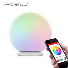 Glass That Changes Color In Light Us 36 89 Mipow Playbulb Sphere Smart Color Changing Waterproof Dimmable Led Glass Orb Light Floor Lamp Night Lights Tap To Change Color In Smart