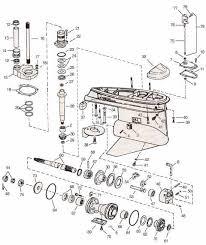 Omc Stern Drive Propeller Chart Cobra 3 3 4 Lower Unit Omc Parts Drawing