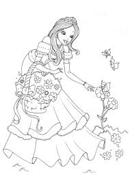 Print Download Princess Coloring Pages Support The Childs Activity