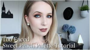 too faced sweet peach palette tutorial for pale skin