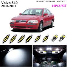 Volvo S40 Lights Details About 14pcs 5630 Xenon White 6k Interior Light Kit Led Package For 2000 2003 Volvo S40