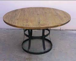 round reclaimed wood dining tables unusual to see a round reclaimed wood table great way to