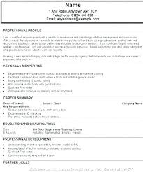 Sample Resume For Security Guard Sample Resume For Security Guard Sample Resume For Security Download