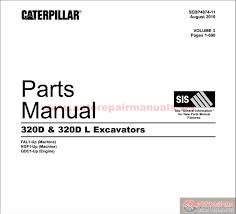 cat d d l excavators parts manual auto repair manual cat 320d 320d l excavators parts manual size 28 7mb language english type pdf