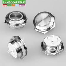 China Lanboo High Quality <b>19mm</b> Tact <b>Type</b> Momentary <b>Waterproof</b> ...