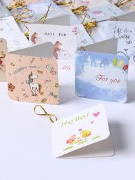 168pcs Creative Small Fresh Birthday Greeting Cards