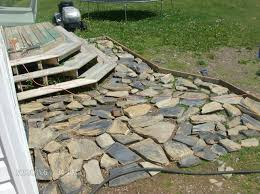 diy flagstone patio concrete nice stone pavers more