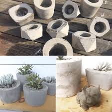 my husband and i are having a blast making concrete planters it s so easy and theutic and gives me a reason to more succulents