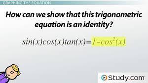 using graphs to determine trigonometric identity