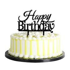 Other Toys Palasasa Happy Birthday Cake Toppers Monogram Black
