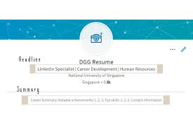 Guide To Linkedin Part 2 Linkedin Profile Tips Dgg Resume