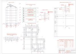 Курсовые работы Фундаменты и основания Чертежи РУ Курсовой проект Фундамент под 6 ти этажный жилой дом