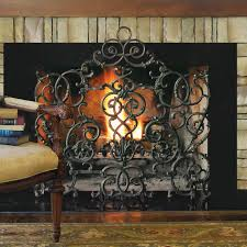 iron fireplace screens. Cast Iron Fireplace Screen Contemporary Vineyard Arch Frontgate Inside 8 Screens