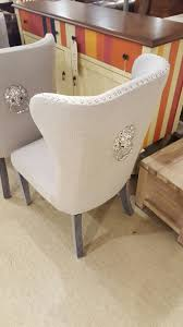 white leather dining chairs with ring chrome covered fabric studded dining room