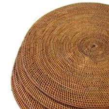 round table mats wicker rattan placemats