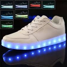 details about kids light up shoes glow in the dark sneakers led cal luminous trainers gift