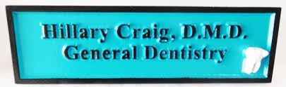 dentist and orthodontist signs and plaques