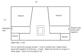 Directions Template Directions For Making A Pilgrim Hat Intended For Pilgrim Hat