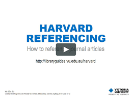 Harvard Referencing Journal Articles