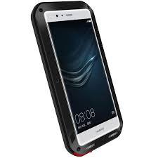 huawei phones p9. love mei powerful huawei p9 protective case - black phones