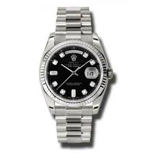 rolex day date black dial 18k white gold president automatic men s rolex day date black dial 18k white gold president automatic men s watch 118239bkdp